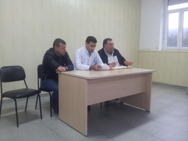 de izqda. a dcha. Ánxel Paleo, Javier Castiñeira e Pedro Fdez. manín