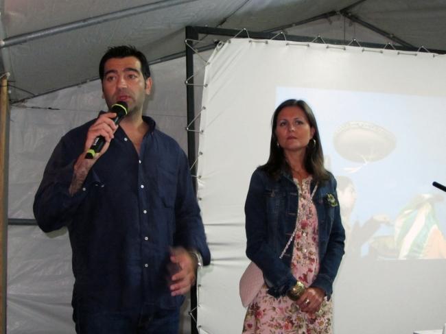 Javier e Merchi nun momento da inuaguración da V Festa da Inmigración.
