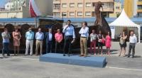 O noso alcalde, Javier Castiñeira, inaugurando a I Feira de Mostras Multisectorial e Salón do Automóbil