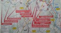 Plano do estudio informativo para o trazado da autovía Barreiros-San Cibrao coas modificacións realizadas no municipio de Foz.