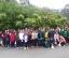 O grupo de alumnos no Bispo Santo